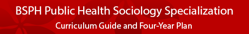Public Health Sociology Specialization Curriculum Guide and four year plan