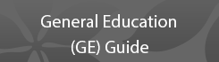General Education (GE) Guide