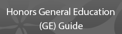 Honors General Education (GE) Guide