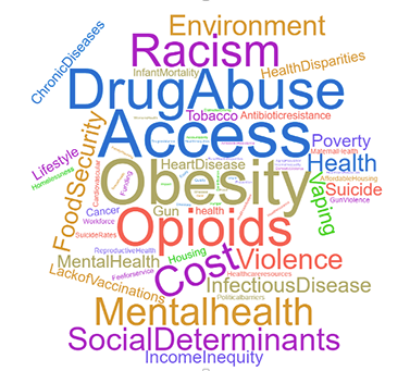 tag cloud: drug abuse, access, obesity, opioids