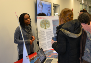 CPH student Chinenye Bosah shares information about the Multicultural Public Health Student Association.