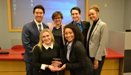 Dean Fairchild and student winners of 2019 case competition