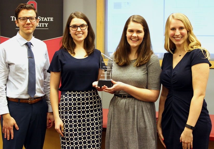 The winning team, from left: Justin Casto, Carra Gilson, Erin Shafer and Corinne Hendrock
