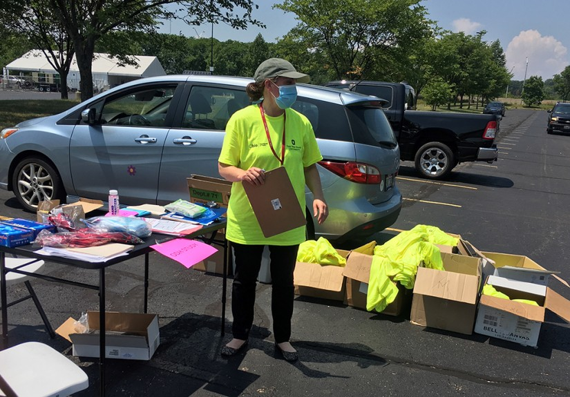 Dr. Abigail Norris Turner prepares for door-to-door COVID-19 testing this summer as part of a statewide initiative.
