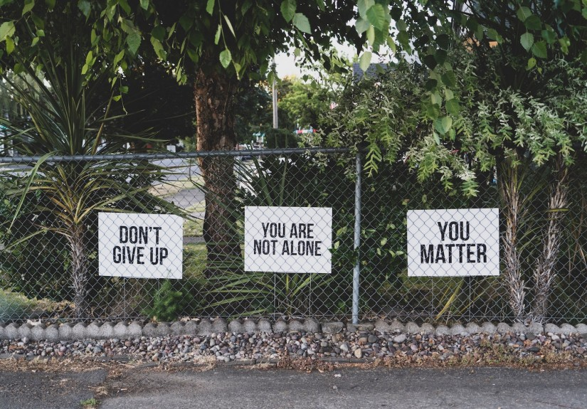 signs with encouraging words