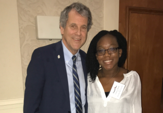 Chinenye Bosah with Ohio Sen. Sherrod Brown