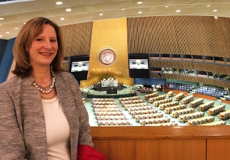 racy Mehan, MA, doctoral student of health behavior and health promotion, at the United Nations