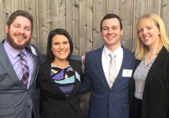 Hanna Gottschalk, Billy Menges, Annie Rudick, and Kevin Heckle (pictured above, right to left)
